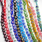 Wholesale 8X3.5mm Flat Millefiori Lampwork Glass Loose Beads Jewelry Finding DIY