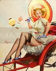 Gil Elvgren-Something's Bothering You, Canvas/Paper Print, Pinup Girl