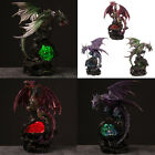 Illuminated Led Dragon Ornament Gothic Gift Resin Figurine Statue Figure 28cm