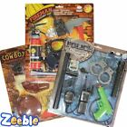 Kids Police Set Fireman or Cowboy Kit Lots of  Accessories Boys Role Play Age 3+
