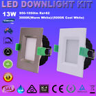 13W SQUARE LED DOWNLIGHTS KITS DIMMABLE 90MM CUTS WARM/ COOL WHITE IN ONE LIGHT