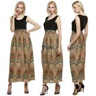 New Women's Summer Sleeveless Boho Long Maxi Evening Party Dress Beach TXWD