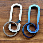 Titanium EDC TC4 Stone wash Multi-color Carabiner Snap Key Ring Keychain Tool