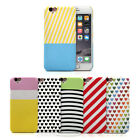 ARU Patterned Heart Stripe Hard Cover Case Shell For Apple iPhone 6 6S 7 Plus