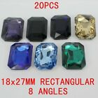 20pcs 18x27mm rectangular crystal stone glass beads decoration diy rhinestones