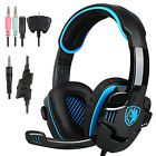 Sades SA-708GT 3.5mm Stereo Wired Gaming Headsets  Headphones w/Mic For PS4 Xbox