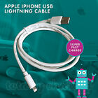 MFI Certified 1M 2M Lightning Syn & USB Data Cable Apple iPhone 5 5S 6 6S 6+ 7 8