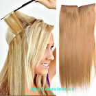 Soft Halo Human Hair Extensions Invisible Wire Filp In 100% remy Human Hair 80g