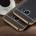 Luxury Electroplate Leather TPU Shockproof Case Cover for Samsung Galaxy S7 Edge