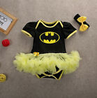 Cute Newborn Infant Baby Girl Batman Clothes Romper Tutu Dress Outfits Set