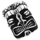 Large Hawaii Tiki Mens Silver Stainless Steel Ring