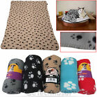 140x 100cm Extra Large Soft Warm Pet Blanket Cosy Fleece Dog Cat Animal Bed NEW