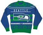 NFL Seattle Seahawks Logo Adult Blue Football Ugly Christmas Sweater $8.0 USD on eBay