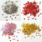 Just Married Gold Silver Red Wedding Confetti Table Decoration Scatter Sprinkles
