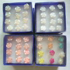 6Pairs Fashion Korea Rose Flowers Stud Earrings For Women Girl Party DIY Jewelry