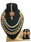 Indian Ethnic Bollywood Style Gold Plated Wedding Fashion Jewelry Necklace Set