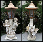 2 Outdoor Garden Decor Solar Fairy Angel/Cherub Statue Sculpture LED Lights