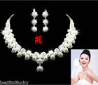 wedding Bridal Jewelry lady necklace Earrings Crown set Crystal Rhinestone Tiara