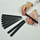 Nail files 100/180 grit emery board--BLACK--double sided