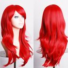 """Hot sale 19-28"""" long hair full head wig natural straight curly black red purple"""