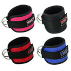 MRX Weight Lifting Gym Ankle Strap D Ring Thigh Pulley Padded Anklet Straps