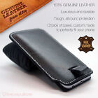 Luxury Genuine Leather Pull Tab Flip Pouch Sleeve Phone Case Cover for Samsung