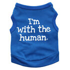 Tiny Dog Vest Summer T shirt Clothes I'm With The Human Small Dog Shirt