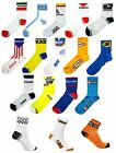 RÉTRO VINTAGE CYCLISME TEAM MADE IN ITALY COTON VÉLO CHAUSSETTES