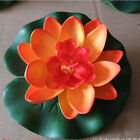 Artificial Water Lily Lotus Floating Flower Garden Pool Pond Tank Plants