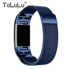 Stainless Milanese Magnetic Bracelet Band L/S Fr Fitbit Charge 2(NO Tracker)