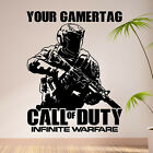 Call of duty Infinite Warfare xbox PERSONALISED WALL ART STICKER Wall Decal  N34
