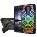 For ZTE ZMAX PRO/Carry Z981/Blade X Max Armor Case [Screen Protector] Design [K]