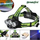 40000LM 5X-XM-L T6 LED Rechargeable USB Headlamp Headlight Head Light Torch UP
