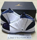 NIKE AIR JORDAN 16 XVI RETRO WHITE MIDNIGHT NAVY BLUE  683075-106