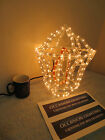 LARGE GARDEN LANTERN FLAME AFFECT CHRISTMAS DISPLAY LIGHT ROPE LIGHT FREE P & P