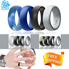 Men Silicone Wedding Ring Rubber Band 4 PACK Army Affordable Gift Valentines Day