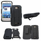 Futuristic Military Style Armor Case w/ Kickstand & Clip Holster for Phone +MORE
