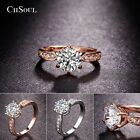 round cubic zirconia engagement rings - CHSOUL Round Ring Engagement Rings 6 Prongs Setting Cubic Zirconia Anel Jewelry
