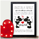 COUPLES PERSONALISED Valentines Gifts for Him Her Keepsake Present Mr Mrs