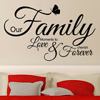 Wall Quote OUR FAMILY MOMENTS TO LOVE Wall Sticker Wall Quotes Stickers     N61