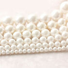 4/5/6/7/8/9/10mm White Freshwater Natural Pearl Round Loose Beads Jewel 15''