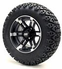 """12"""" Barracuda Matte Wheels and X-Trail Tires + GTW Quality Golf Cart Lift Kit"""