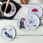 Moomin White Wooden Tea Coffee Drink Cup Mug Glass Coaster Pad Colorful Designs