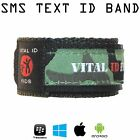 SMS Alert Child ID Bracelet Wristband Emergency SMS Parent Phone Travel Lost Kid