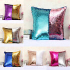 Double Color Sequin Designed Sofa Pillow Cushion Cover Home Decoration Gift