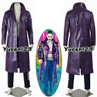 Jared Leto Joker Suicide Squad Cosplay Costume Coat Pants In Stock