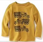 New OLD NAVY Boys Shirt Size 4T 5T LOGGING TRUCK Long Sleeve Cotton Tee Toddler