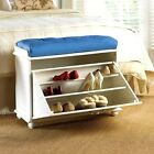 Shoe Storage Ottoman Bench Cabinet Closet Caddy Rack Wood Entryway Multipurpose