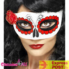 Ladies Deluxe Mexican Day Of The Dead Eyemask Costume Masquerade Dress Eye Mask