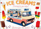RETRO METAL PLAQUE :Ice Creams, Coming to you soon sign/ad